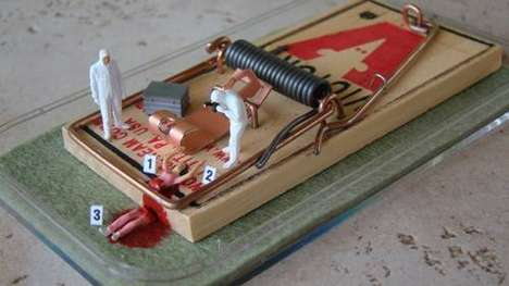 Morbid Mousetrap Crafts - Do Your Best CSI Miami Impression at This Mousetrap Crime Scene