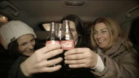 Heartwarming Cab-Sharing Campaigns - This Coca-Cola Christmas Ad Encourages Sharing Taxi Rides