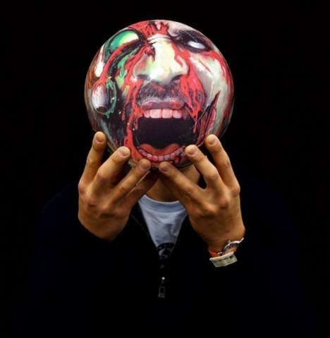Grotesque Sporting Balls - Scare Friends and Knock Down Pins with Your Zombie Bowling Ball