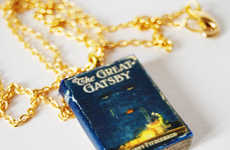 Violeta Hernando Creates Incredible Mini Book Necklaces