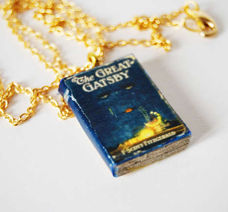 Pint-Sized Literature Necklaces - Violeta Hernando Creates Incredible Mini Book Necklaces