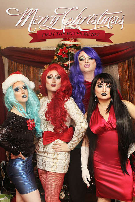 Drag Family Christmas Photos - The Power Family Show Us Their Funny Family Christmas Photos