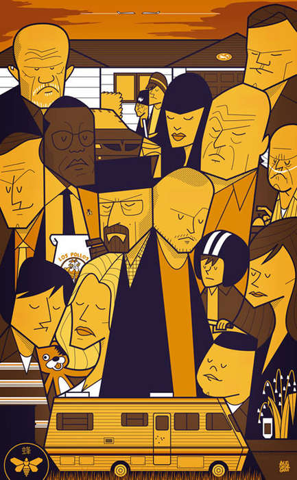 Solemn Character Illustrations - Ale Giorgini Depicts TV Characters in His Series of TV Show Posters