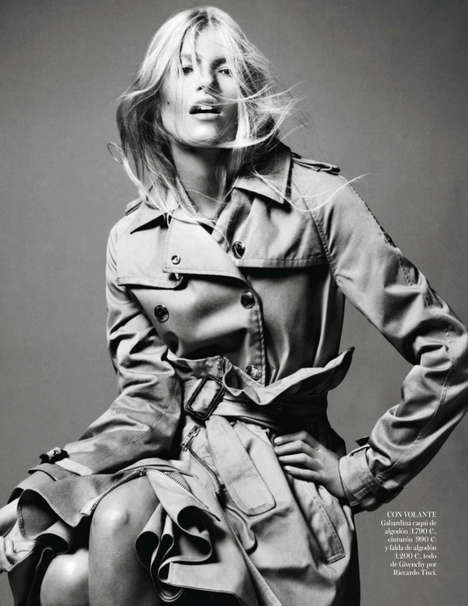 Time-Honored Trench Coat Editorials - Vogue Spain