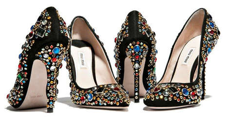 Bedazzled Party Stilettos (Update) - Miu Miu