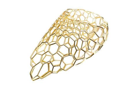 Cell Structure-Inspired Jewelry - The Skein Ring Resembles Cellular Structures Found in Nature