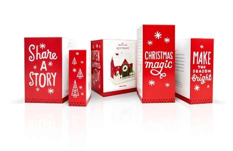 Hand-Drawn Christmas Branding - The New Hallmark Christmas Packaging is Refreshingly Modern