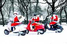 Last-Minute Gift Deliveries - Zady's Operation: Santa Made Deliveries on Vespas in NYC at Christmas