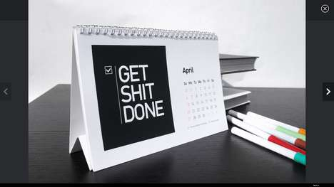 Cussing Motivational Calendars - This Motivational Calendar will Put an End to Your Procrastination