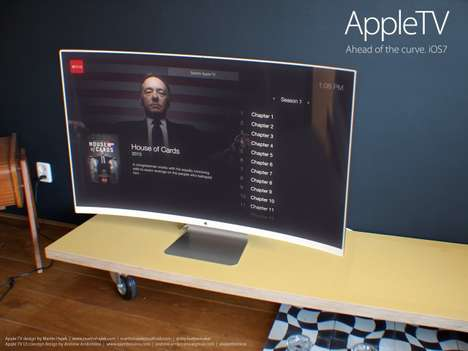 Apple TV Concepts - Andrew Ambrosino and Martin Hajek Design a Curved Screen for iOS Systems