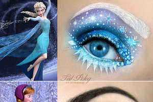 This Disney-Inspired Makeup Goes Ice Queen Style