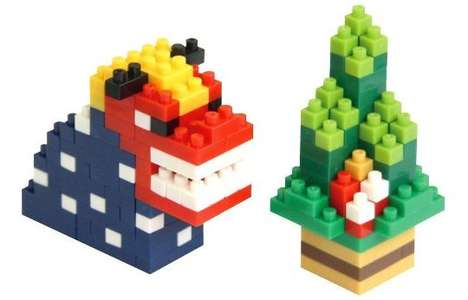 Building Brick Postcards - These New Year Nengajo Cards Transform into Collectible Figurines