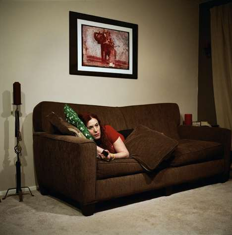 Couch Potato Captures - Photographer Olivier Culmann is Behind the Watching TV Series