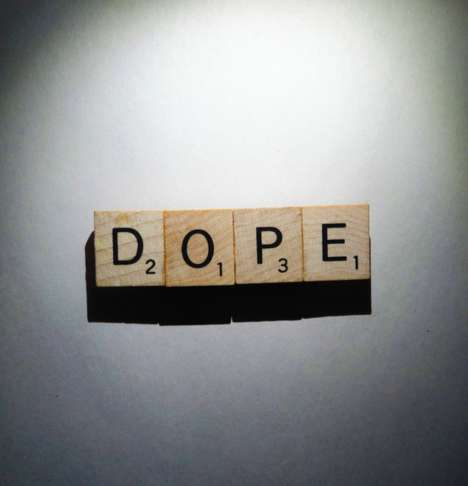 Quirky Word Game Brooches - Look Cool and Smart with the Scrabble Dope Pin