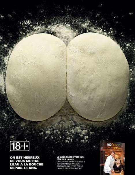 Suggestive Restaurant Ads - These Overly Suggestive Food Ads Were Made For the Voir Restaurant