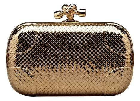 Party-Ready Diamond Purses - The Bottega Veneta Knot Clutch is the Perfect New Year