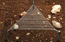 Triangular Outdoor Cooking Grills