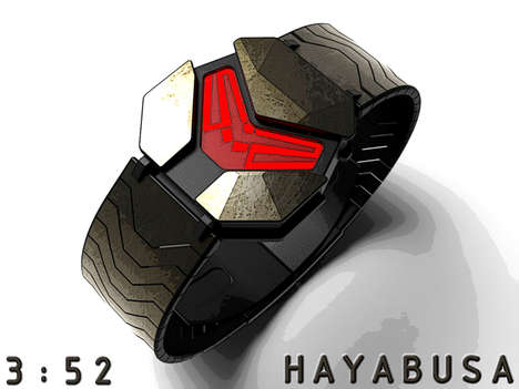 Armored Gamer Timepieces - The Hayabusa Concept Watch Takes the Look of