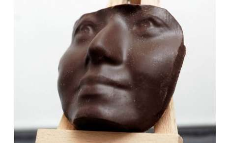 3D-Printed Chocolate Portraits - Choc Edge Creates Sweet Masks for Customers