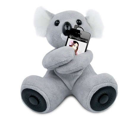 Cuddly Smartphone Speakers - The Koala Portable Speaker is a Cute and Cozy Way to Listen to Music