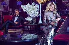 High Society Editorials - The Harper's Bazaar China Photoshoot is Luxurious