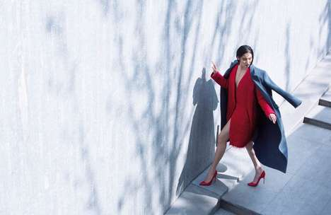 Layered Coat Fashion - The Grazia China December 2013 Editorial Stars a Doubly Warm Bonnie Chen