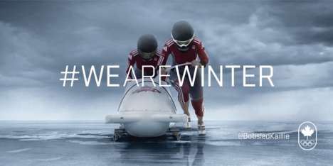 Winter-Embracing Olympic Campaigns - Get Patriotic with the We Are Winter Olympic Campaign