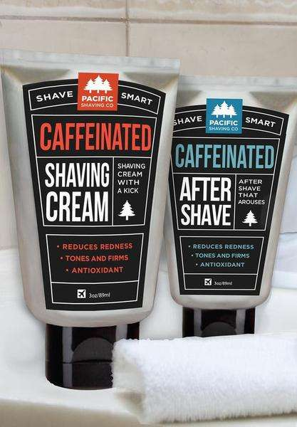 Caffeinated Shaving Creams - Pacific Shaving Shaving Products Add a Jolt to Your Morning