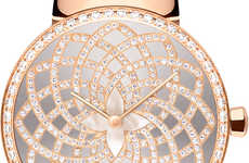 Precious Pink Gold Timepieces - The Louis Vuitton Tambour Monogram Infini Watch is Pretty in Pink