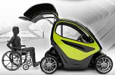 Accessible Subcompact Autos - The EQUAL Concept Car Caters Specifically to Wheelchair-Bound Drivers