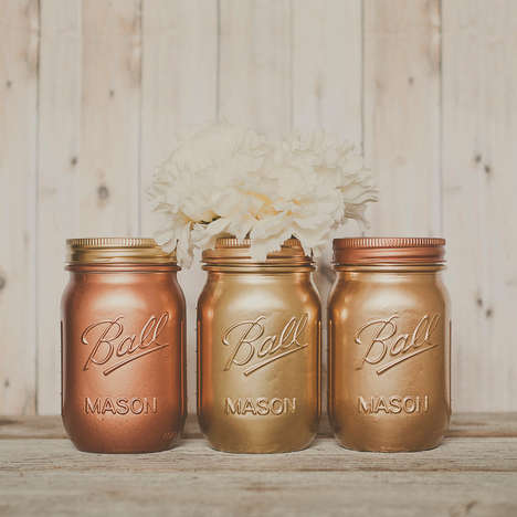 Modern Mason Jar Vases - Mason Jars Can Be Used for Much More Than Just Storing Food