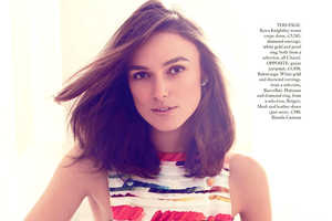 Keira Knightley Stars in Harpers Bazaar UK February 2014 Issue