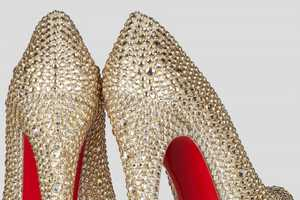 The Christian Louboutin Daffodile 160 is Covered in Gems