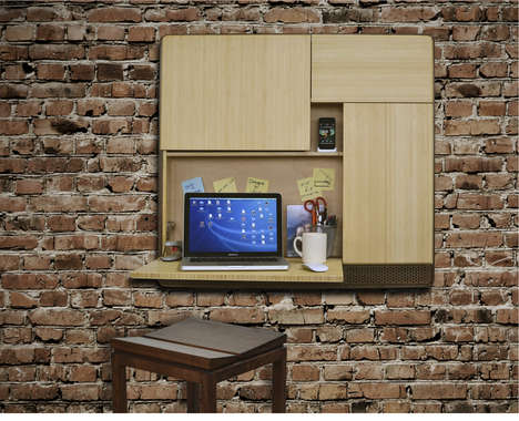 Speaker-Embedded Work Stations - Podpad by RUPHUS is a Multi-Functional Desk Area