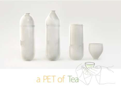 Unscrewable Portable Bottles - A PET of Tea Repurposes a Plastic Pop Bottle as a Thermos