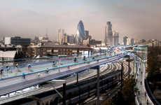 Train-Hopping Bike Lanes - SkyCycle Aims to Put Bike Paths on Top of London's Train Lines