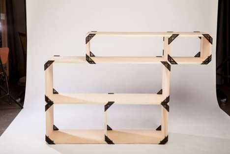 Customizable Bracket Shelving - The Nooks Shelf System by Michael Bernard Takes on Various Forms