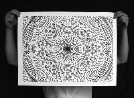 Hypnotic Geometric Illustrations - These Geometric Drawings are Designed with a Sharpie Marker