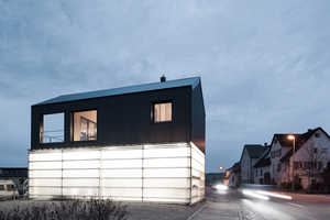 The House Unimog Comprises a Translucently Clad Carport in its Base