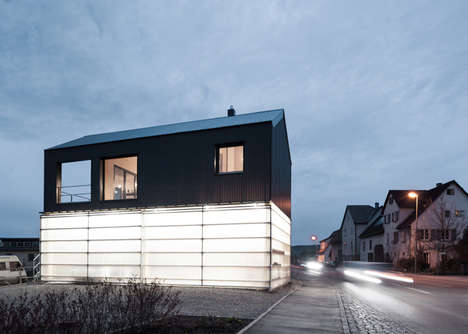 Glowing Garage Architecture - The House Unimog Comprises a Translucently Clad Carport in its Base