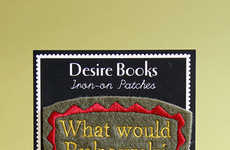 Novel Iron-On Patches - Desire Books Creates Embroidered Accessories for the Literature Lover