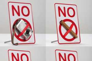 Keep All Your Contraband Safe With This 'NO' Sign Holder