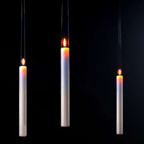 Magical Hanging Candles - Ingo Maurer Makes Canles That Look Like They Could Come From Hogwarts