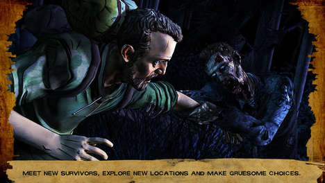 Tailored Zombie Game Apps - Season Two of the Walking Dead App Adjusts Gameplay Based on Choices