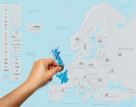 Travel Scratch Maps - This Scratch Map Helps You Learn and Keep Track of Your Euro Travels