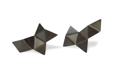 Luxe Origami Accessories - Malene Glintborg Creates Minimalist Jewelry Pieces With a Modern Edge