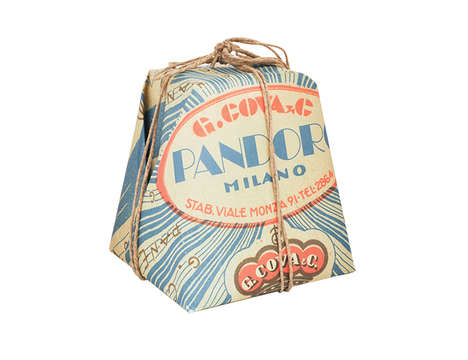 Gift-Wrapped Grains - Pandoro Bread Packaging Comprises Folded Paper and Bow-Tied Twine