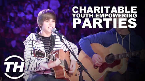 Charitable Youth-Empowering Parties - Free the Children Brings Stability and Social Change Worldwide
