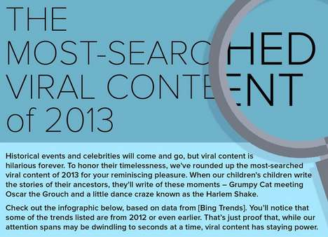 Year-End Viral Content Infographics - This Mashable Graphic Recounts the Top 10 2013 Memes