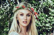 Earthy Hippie Chick Editorials - Candice Swanepoel Stars in Vogue Brazil Antes do P